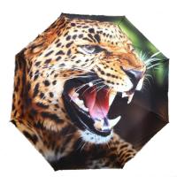 """Зонт 3в1 защита от дождя, ультрафиолета и снега """"Леопард"""""""