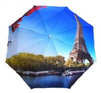 """Зонт с рисунком защита от дождя, ультрафиолета и снега """"Париж"""""""