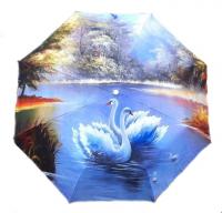 """Зонт с рисунком защита от дождя, ультрафиолета и снега """"Лебеди"""""""