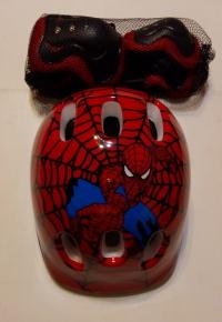 """Шлем детский защитный и защита для роликов """"Человек Паук"""""""