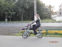 Велосипед коляска. Велоколяска Yabby bike