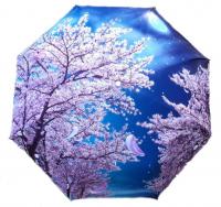 "Зонт с рисунком защита от дождя, ультрафиолета и снега ""Цветение"""